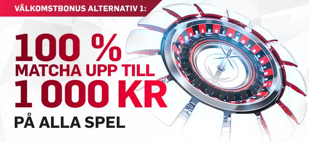 Betfair casino bonus insättning upp till 1 000 kr