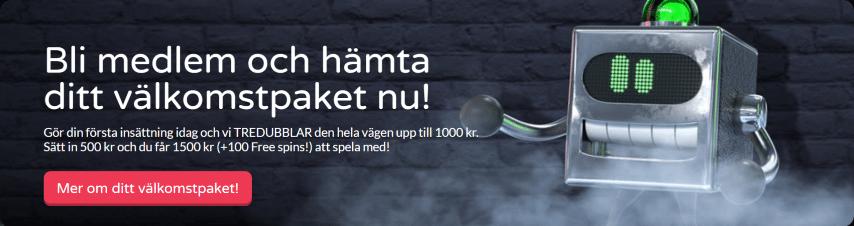 Get Lucky casino välkomsterbjudande - 100 free spins + 200% i bonus upp till 1500 kr i välkomstbonus