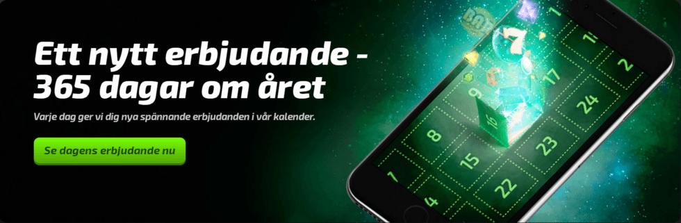 Mobilebet kampanj - nytt erbjudande varje dag - dagliga kampanjer!