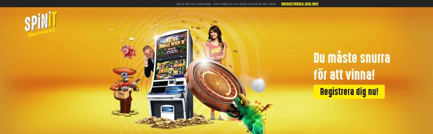 Spinit casino välkomstbonus med 200 freespins
