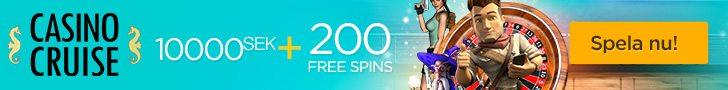 På Casino Cruise får du 200 free spins vid din första insättningen