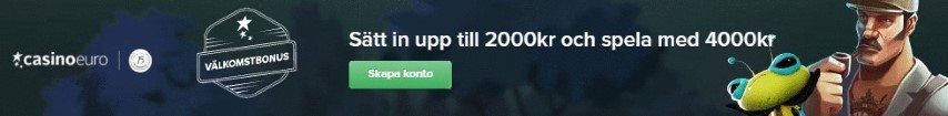 CasinoEuro välkomstbonus sätt in 2000kr och få 4000kr