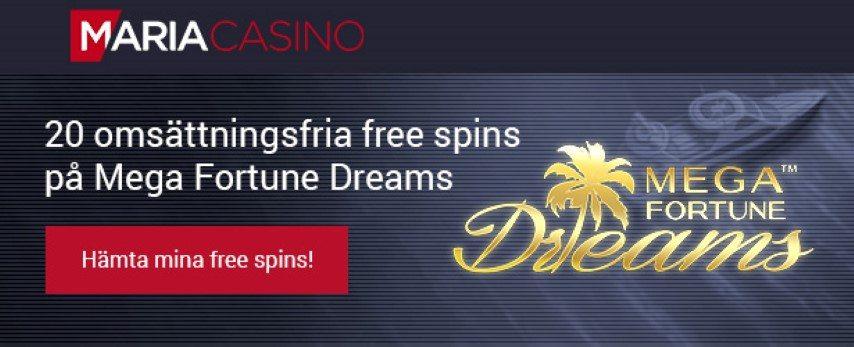 Maria Casino bonus omsättningskrav, regler, bonuskod & insättning!