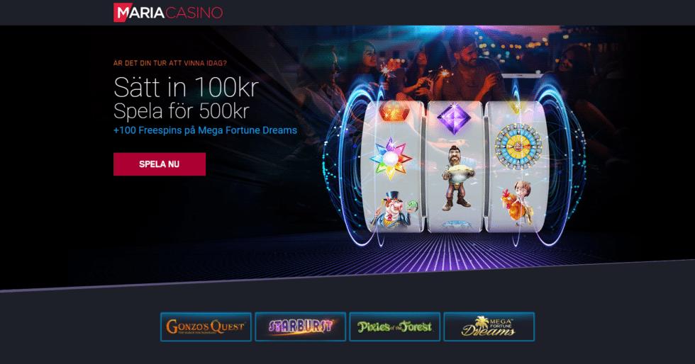 Maria Casino omsättningskrav, bonuskod, regler & uttag!