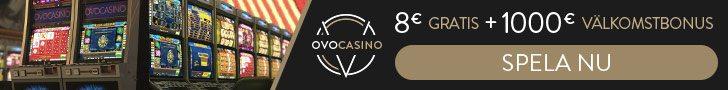 OVO casino bonus vid registrering utan insättning