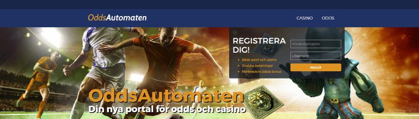 Oddsautomaten casino välkomstbonus