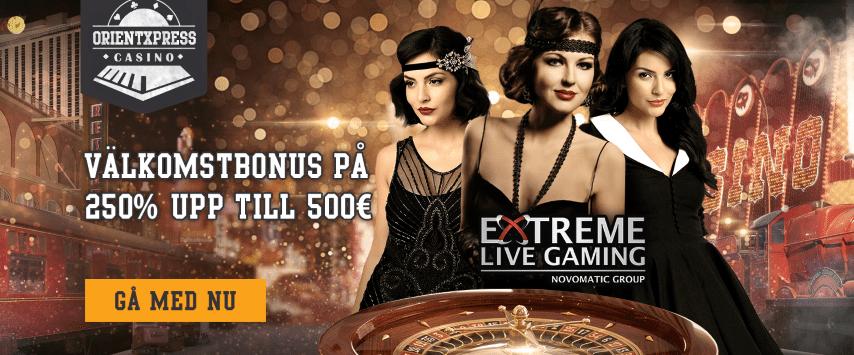 OrientXpress Casino 250% bonus