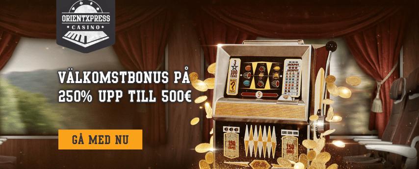 OrientXpress Casino välkomstbonus upp till 5 000kr