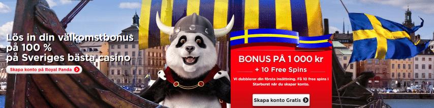 Royal Panda Casino insättningsbonus