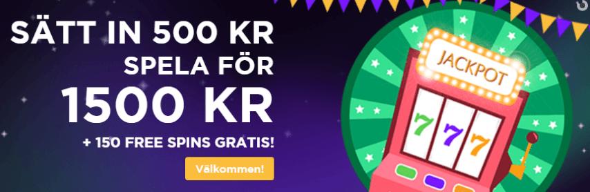 Sir Jackpot Casino välkomstbonus ger dig 150 gratis free spins