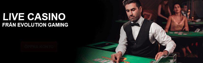 Du kan spela Live Casino på SverigeKronan