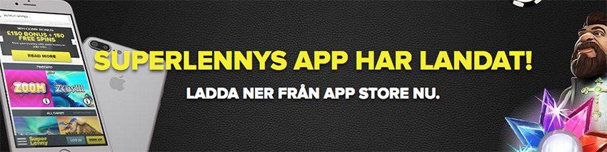 Ladda ner SuperLenny Casinos app för iOS och Android