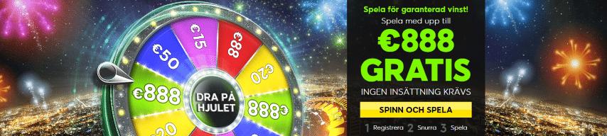 Dra på hjulet på 888Casino och få upp till 8880 kr gratis