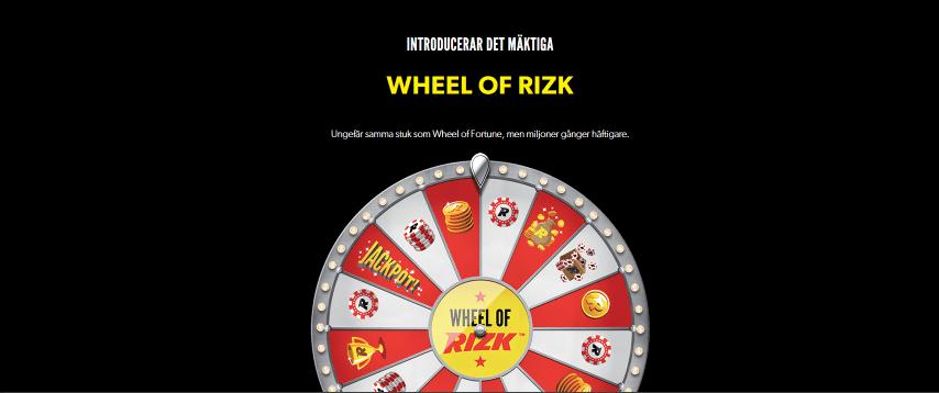 Spela Wheel of Rizk
