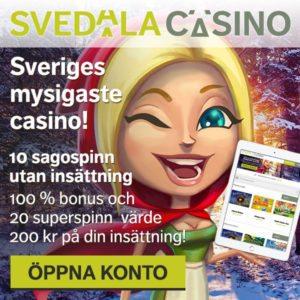 SvedalaCasino free spins utan insättning