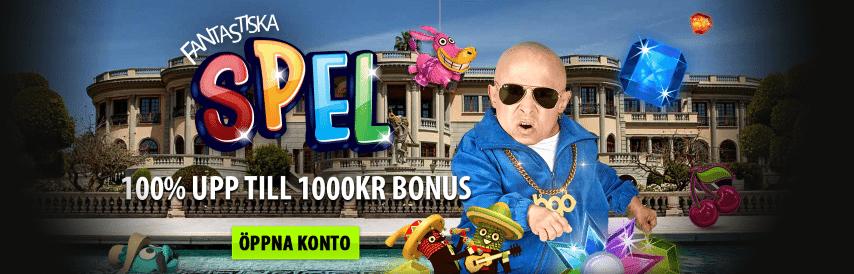 BGO nätcasino bonus upp till 1000 kr
