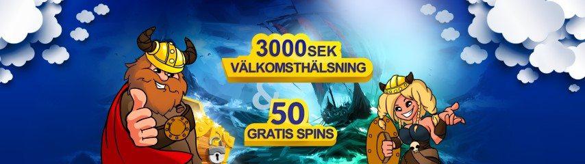 Konung Casino bonus - få upp till 3000 kr samt 50 free spins på din första insättning