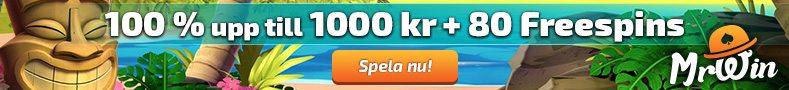 Mr Win Casino free spins vid registrering