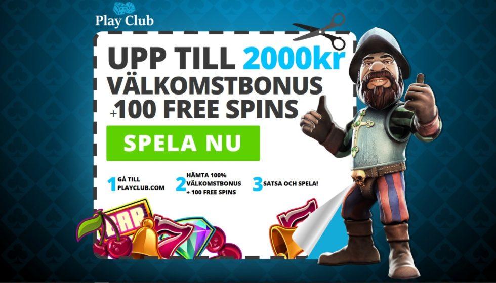 PlayClub Casino bonus omsättningskrav, regler, bonuskod & insättning!