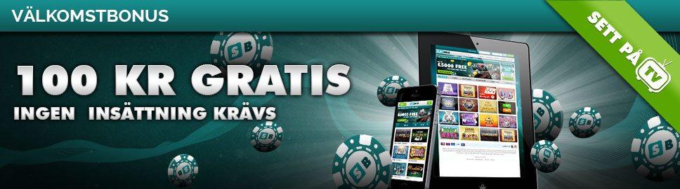 Slot Boss casino få 100 kr gratis att spela för