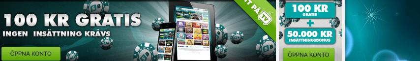 Få 100 kronor gratis vid registrering på Slotboss Casino