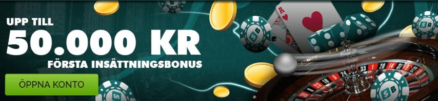 Hos SlotBoss Casino upp till 50 000kr