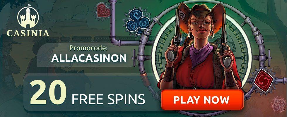 Casinia Casino bonuskod utan insättning
