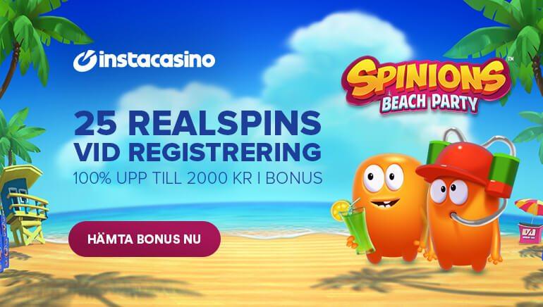 25 Omsättningsfria free spins vid registrering - Real Spins