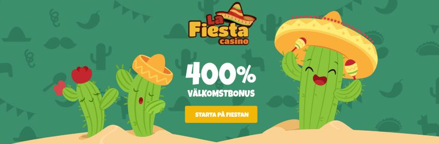 La Fiesta Casino bonus upp till 400%