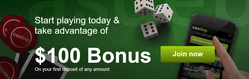 Casdep Casino bonus omsättningskrav