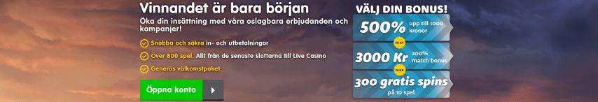 CasinoRoom upp till 900 free spins