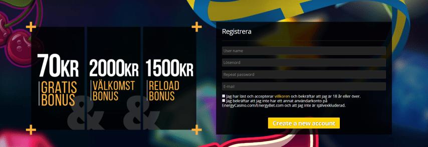 Energy Casino bonus omsättningskrav, regler, bonuskod & insättning!