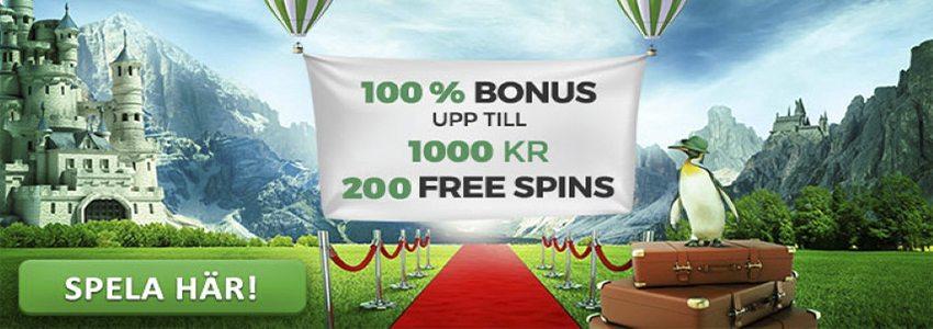 Få 200 freespins i välkomstbonus hos MrGreen Casino