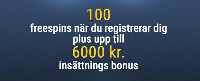 Euroslots casinos insättnings bonus upp till 6 000kr
