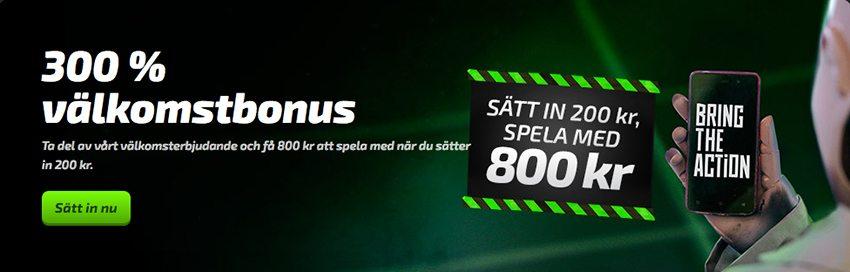 Få 300% bonus hos Mobilebet Casino