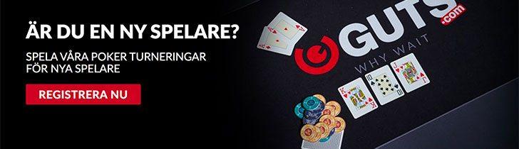 Guts casino poker turneringar för nya spelare