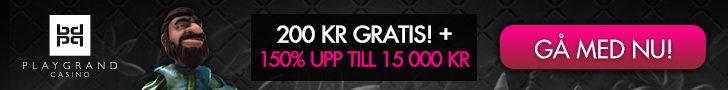 PlayGrand casino no deposit bonus ger dig 200 kronor gratis
