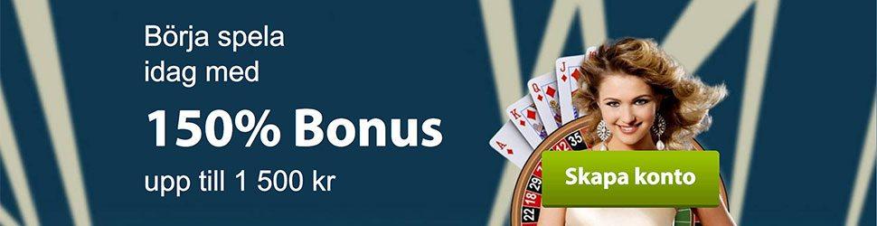 VIPSpel Casino välkomstbonus ger dig upp till 1 500 kr