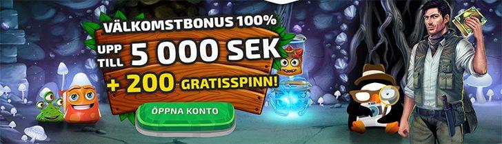 BoaBoa casino välkomstpaket - upp till 5 000 kr samt 200 free spins