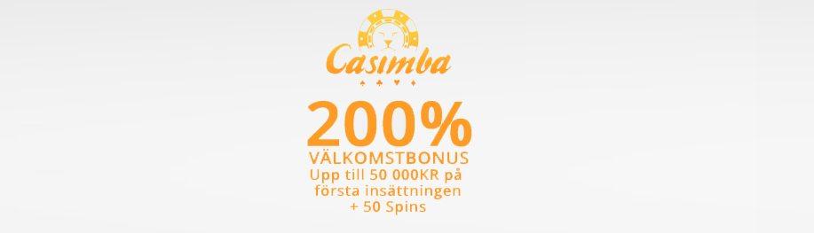 Casimba Casino välkomstbonus