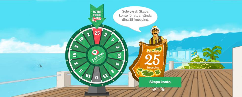 paf casino free spins