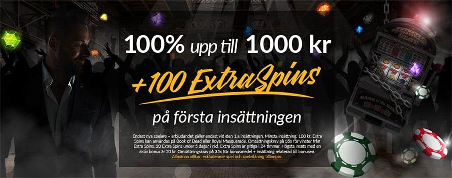 Shadowbet casino free spins - hämta 100 free spins vid första insättning
