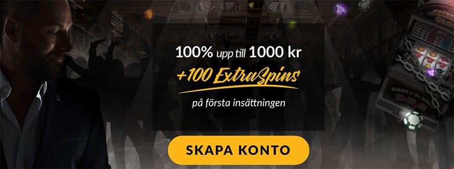 ShadowBet casino välkomstbonus - få 100% upp till 1 000 kr
