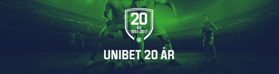 Fira med Unibet Casino på deras 20 årsjubileum och få gratis free spins