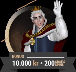 King Billy Casino bonus upp till 10 000 kr och 200 free spins