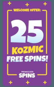 hos Kozmo Casino får du 25 free spins