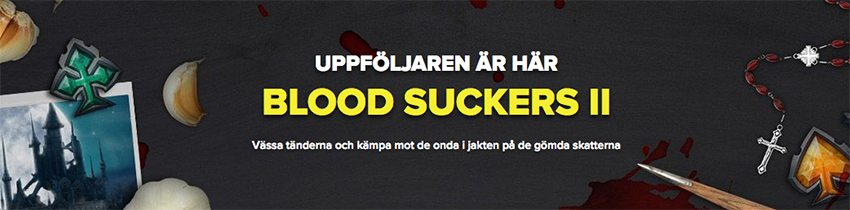 Spel hos SuperLenny Casino på det nya spelet Blood Suckers II