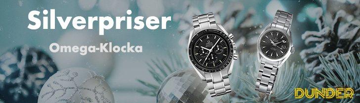 Dunder julkalender silverpriser två Omega-Klockor