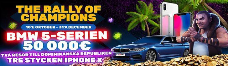 PlayAmo julkampanj - vinn en BMW 5-serien