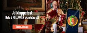 Svenska online casinon delar ut 22,3 miljoner kr extra under jul!